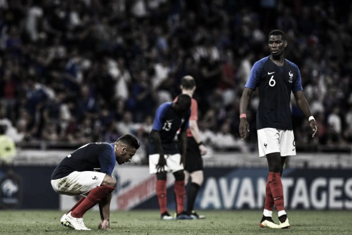 Pouco inspirada, França apenas empata com Estados Unidos em último teste pré-Copa