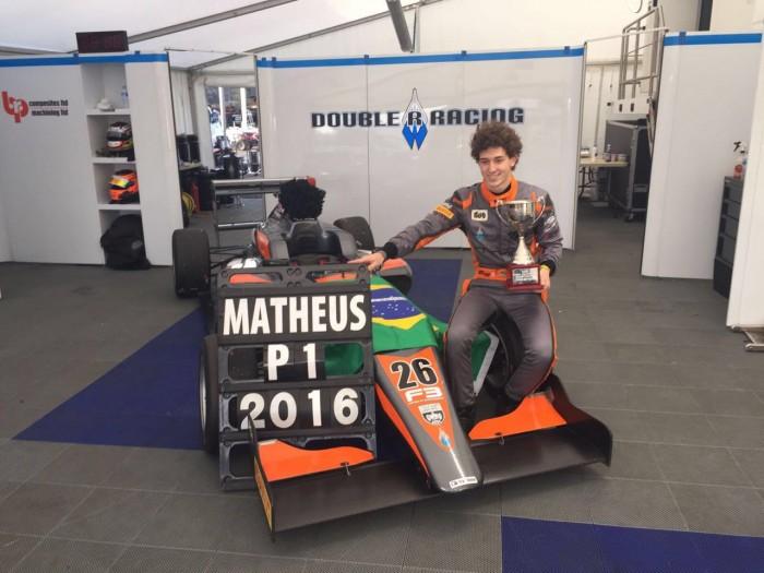 Matheus Leist é campeão na F3 Britânica
