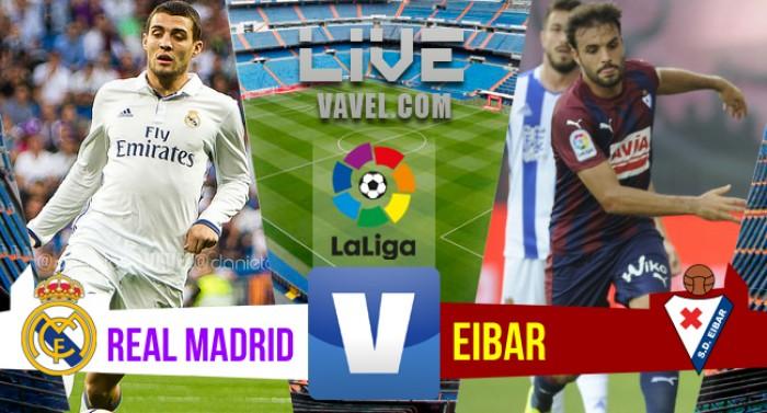 Resultado Real Madrid x Eibar pelo Campeonato Espanhol 2016/2017 (1-1)