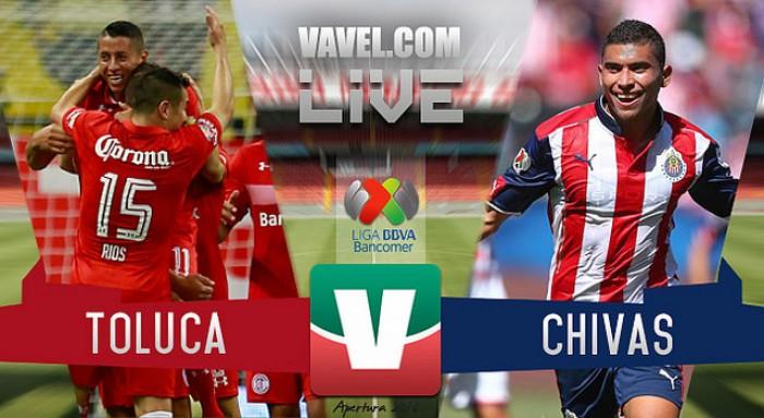 Resultado del Toluca vs Chivas (1-1) de la jornada 1