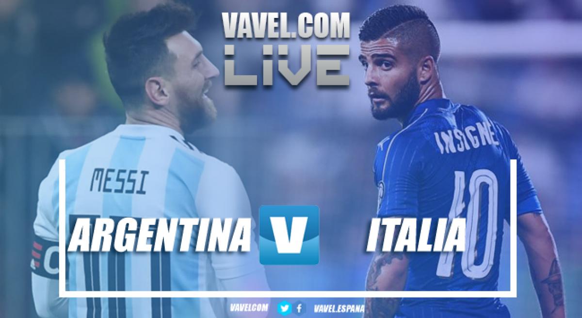 Resumen. Argentina 2-0 Italia. Luigi Di Biaggio empieza con mal pié en el banquillo azzurri