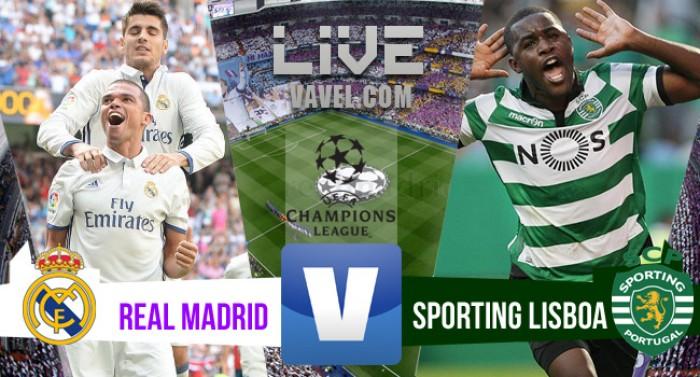 Real Madrid vence o Sporting Lisboa na Uefa Champions League 2016/2017 (2-1)
