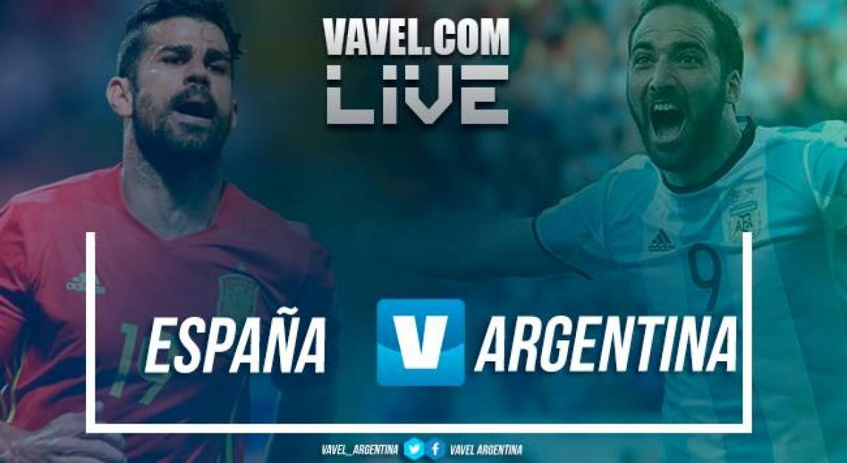 Resumen Argentina 1-6 España en Amistoso Internacional 2018