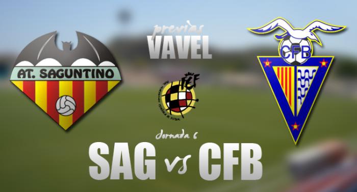 Atlético Saguntino - CF Badalona: escalar posiciones