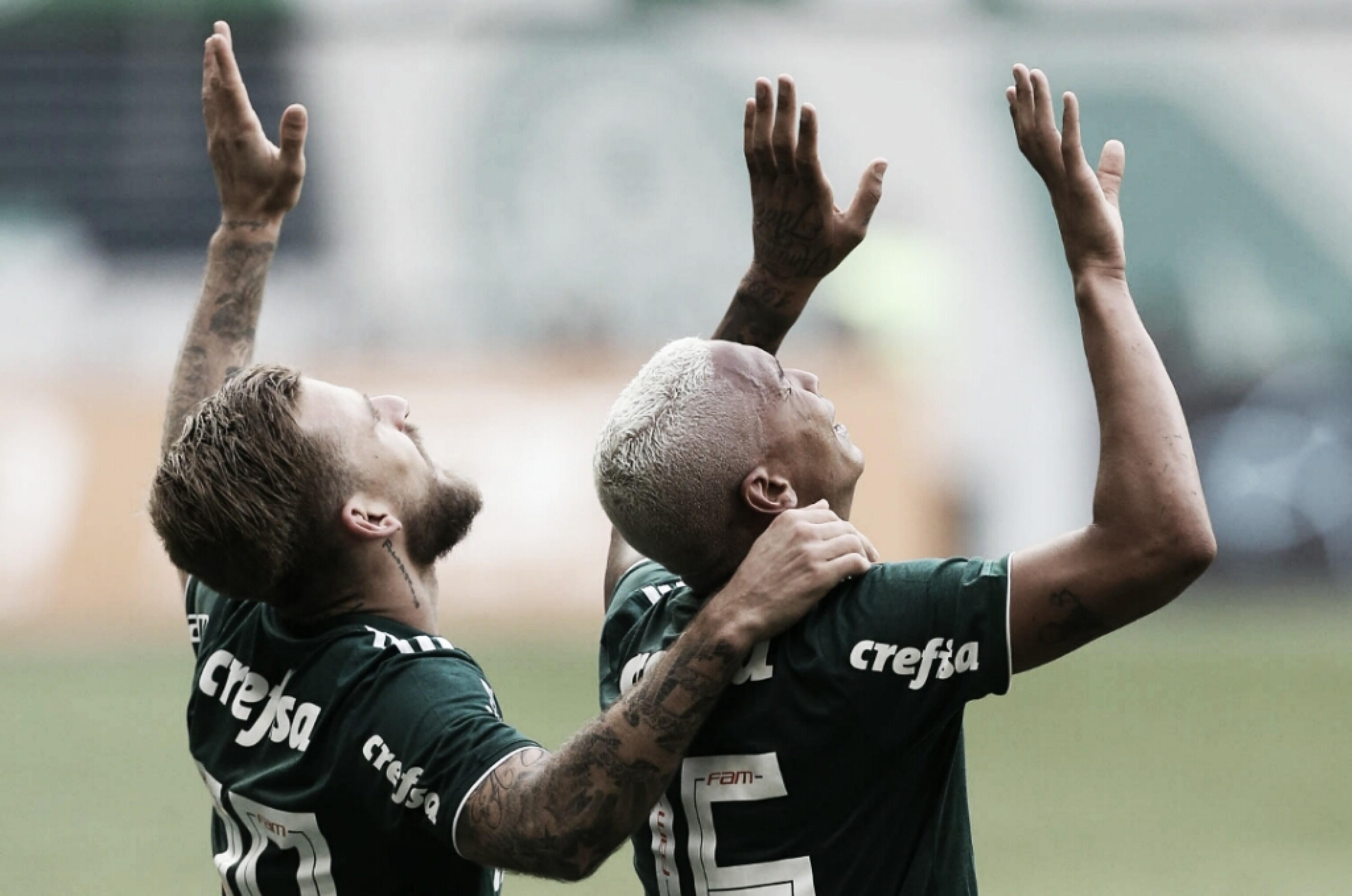 """Lucas Lima elogia elenco do Palmeiras após vitória no clássico: """"Grupo muito qualificado"""""""
