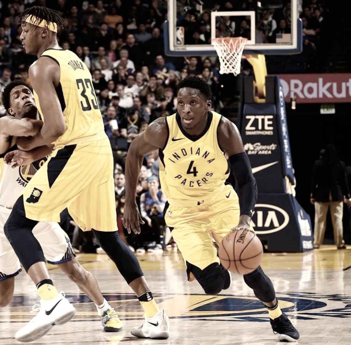 Aprovechoso triunfo de Pacers sobre un débil Warriors