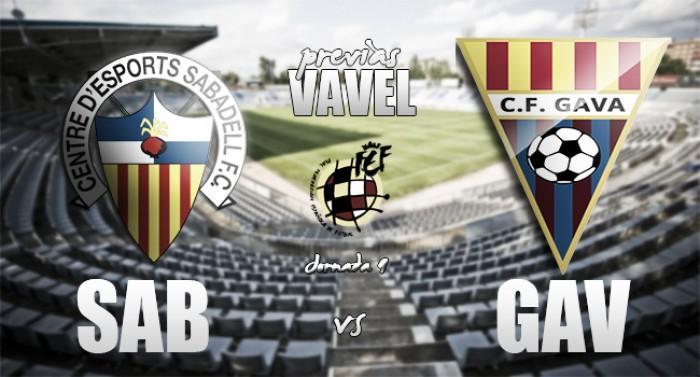Previa CE Sabadell - CF Gavà: Duelo de media tabla