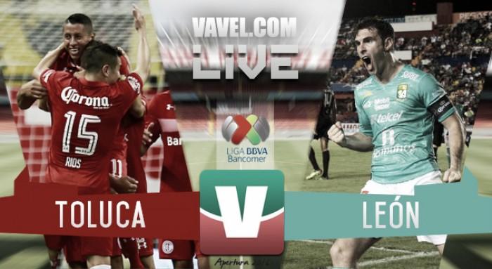 MÉXICO: Toluca y León iguala a un gol