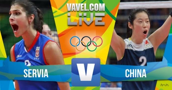 Resultado final Sérvia 1 x 3 China no vôlei feminino nos Jogos Olímpicos
