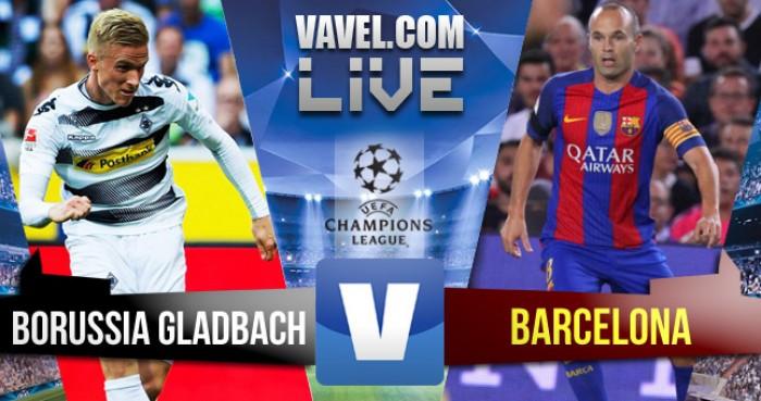 Resultado Borussia Monchengladbach x Barcelona na UEFA Champions League 2016 (1-2)
