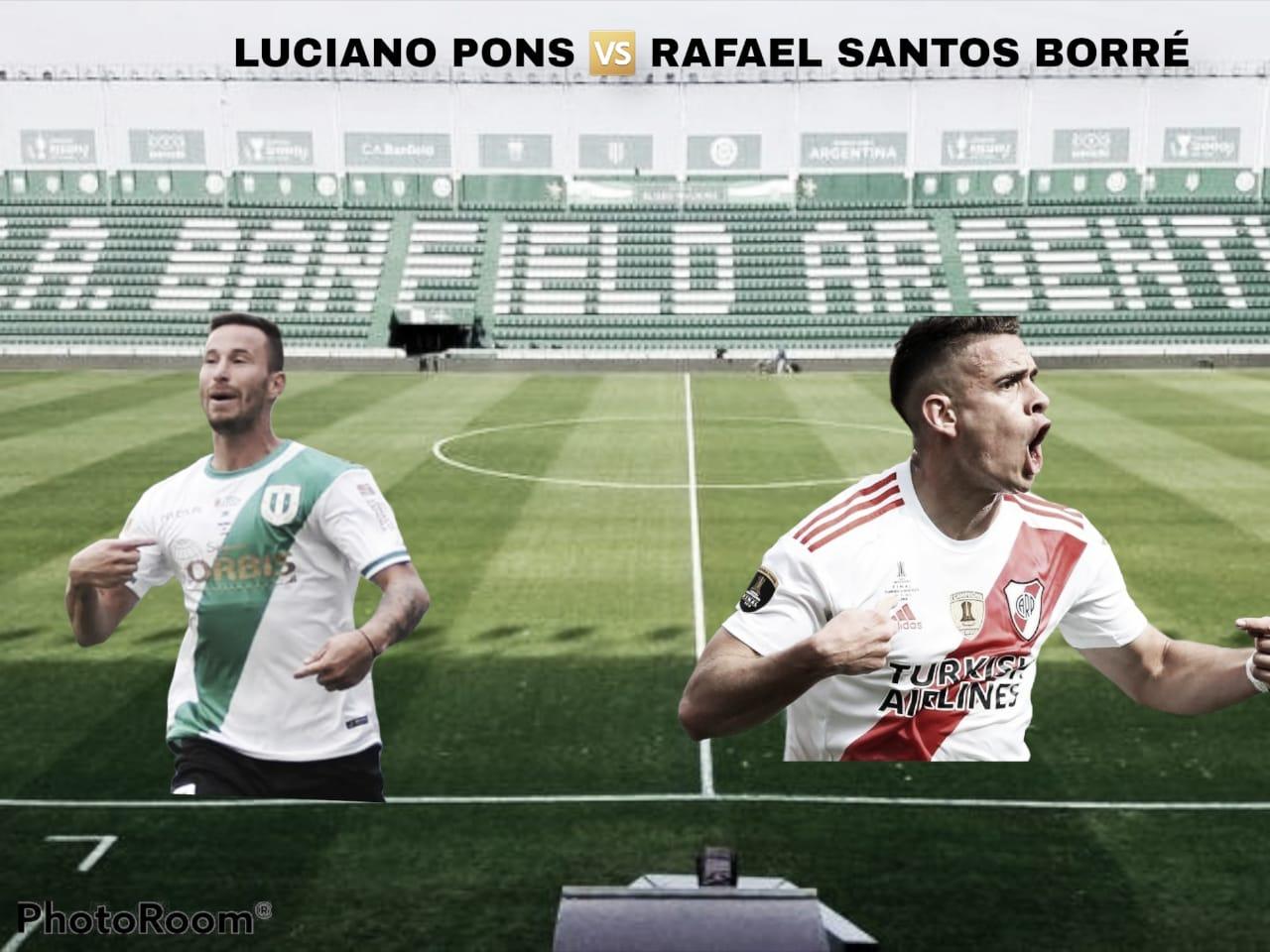 Luciano Pons vs Rafael Santos Borré: duelo de delanteros