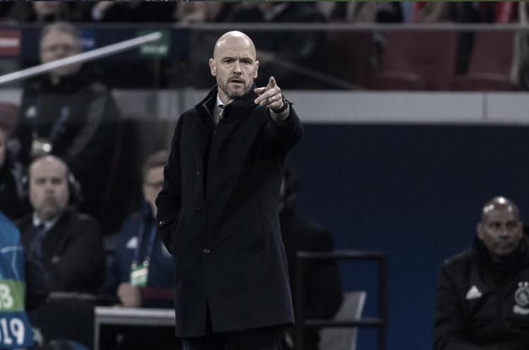"""Erik Ten Hag aprova atuação do Ajax e alerta sobre jogo da volta: """"Nos esforçar muito"""""""