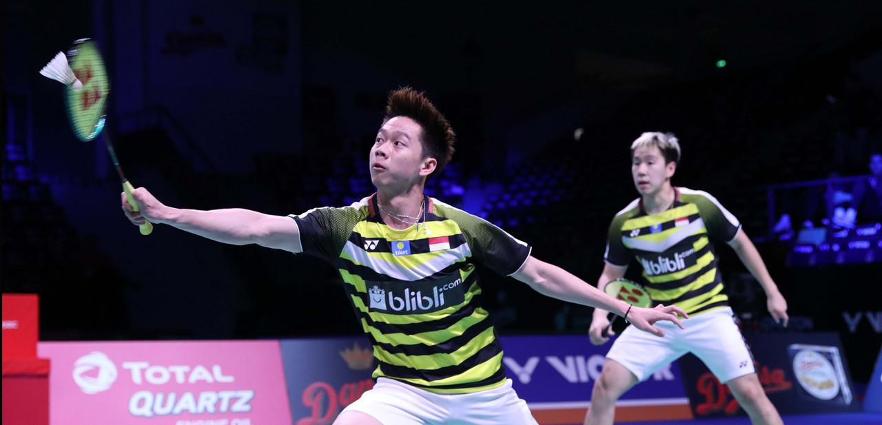 Indonesia Pastikan Satu Tempat di Final Ganda Putra Denmark Open 2018