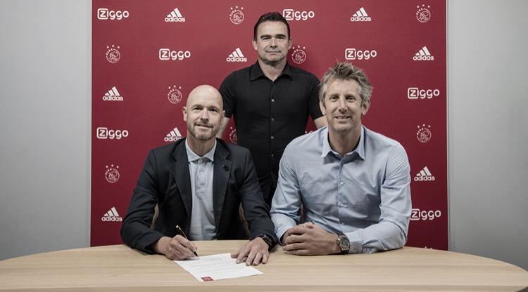 Erik Ten Hag renova com Ajax por mais três temporadas