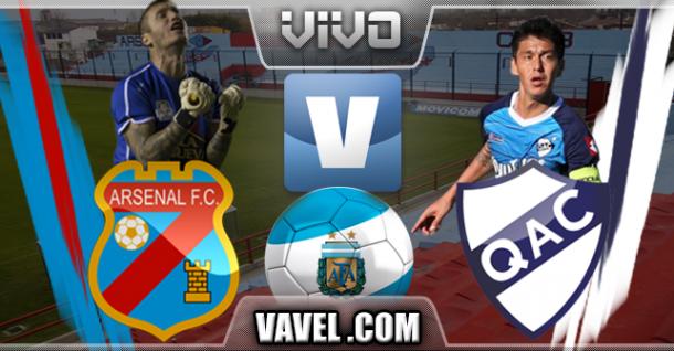 Resultado Arsenal de Sarandí - Quilmes (0-2)