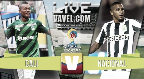 Deportivo Cali vs Nacional en vivo y en directo online en cuartos Liga Águila 2015 (0-0)