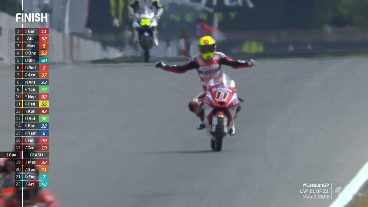 Gp Catalogna: Pazza gara Moto3 e la spunta Garcia