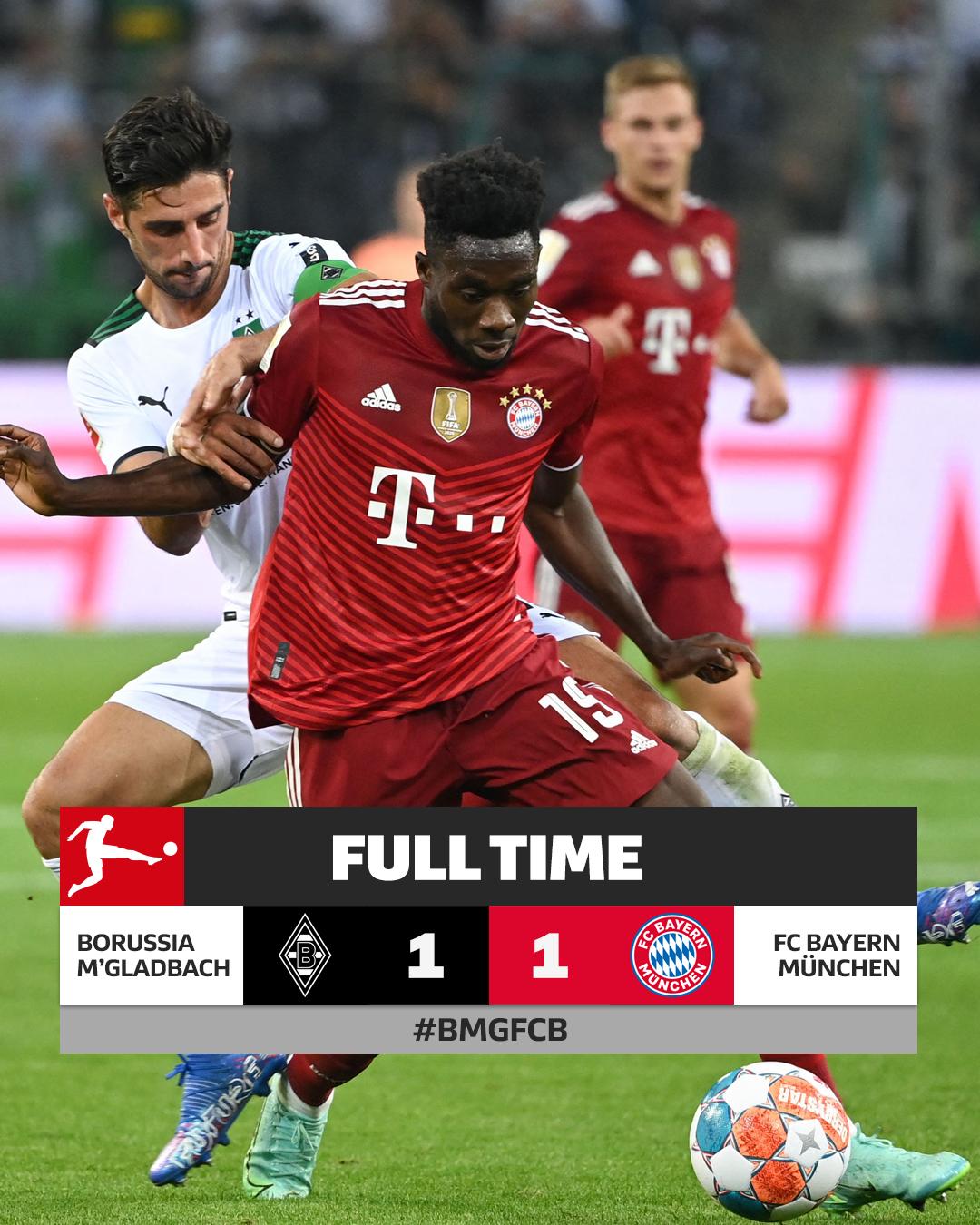 Il Bayern pareggia e continua una serie non perfetta di partite