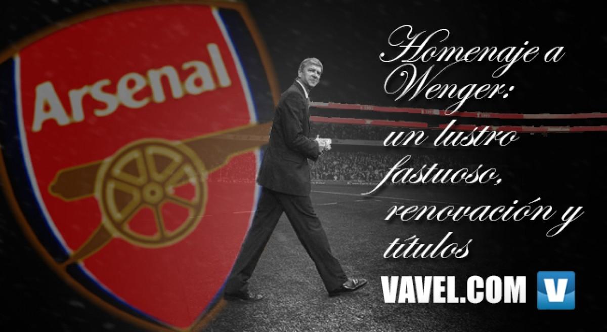 Homenaje a Wenger: un lustro fastuoso, renovación y títulos
