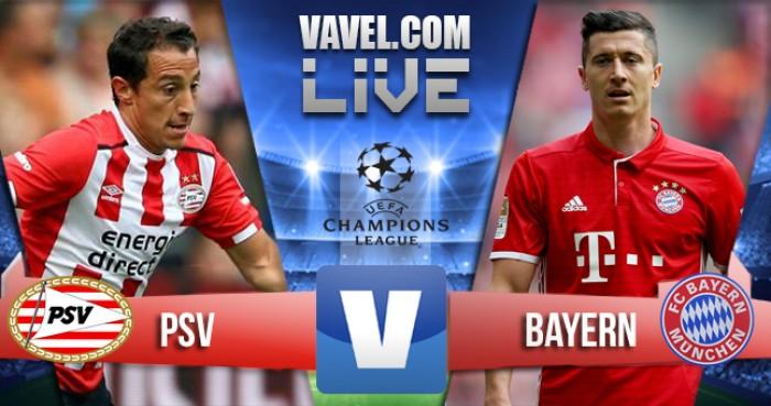 PSV - Bayern Monaco terminata in Champions League 2016/17 (2-1): Lewa x2, non basta Arias