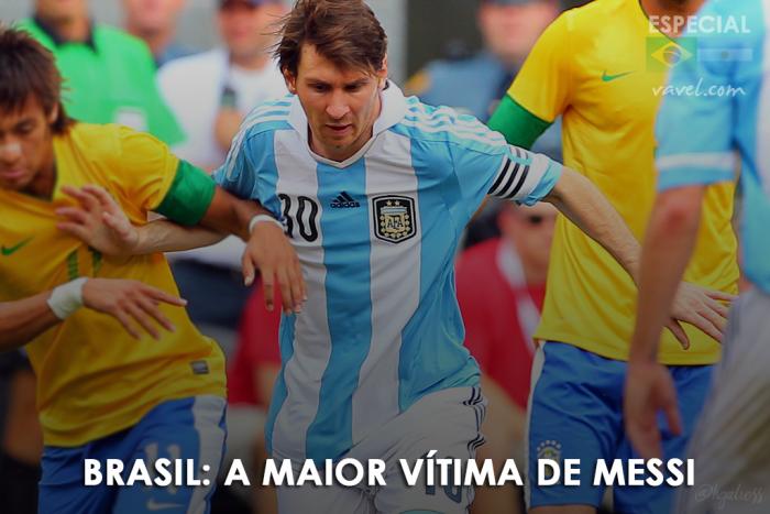 Brasil: a maior vítima de Lionel Messi