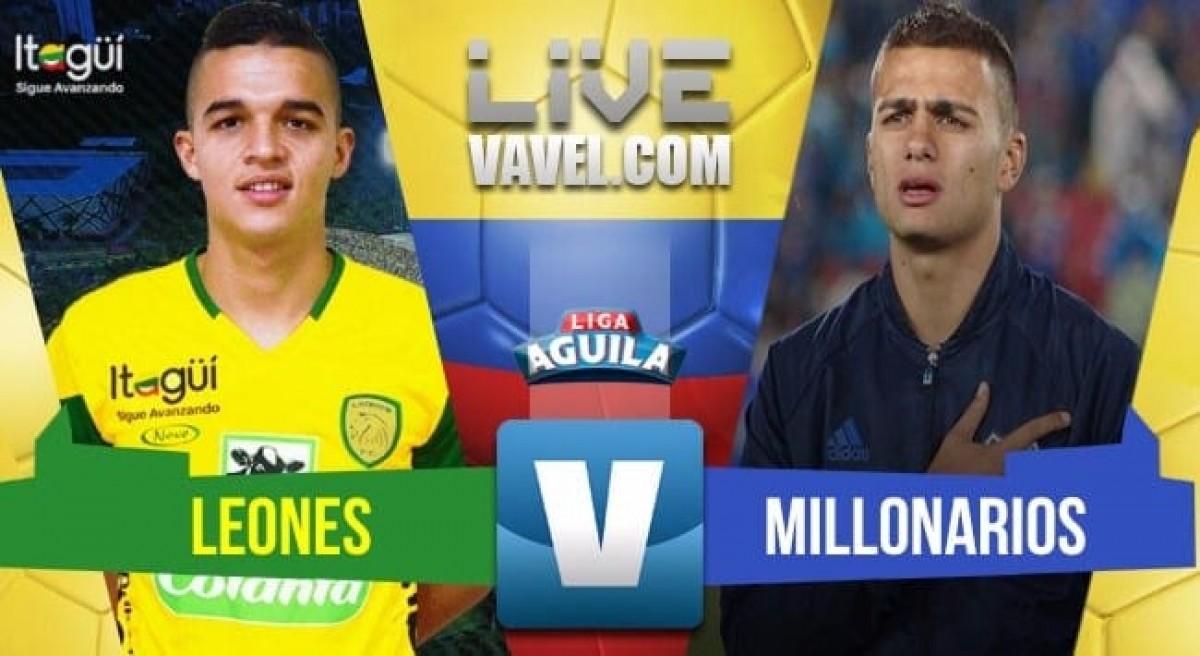 Leones vs Millonarios en vivo online en Liga Águila 2018-I (2-1)