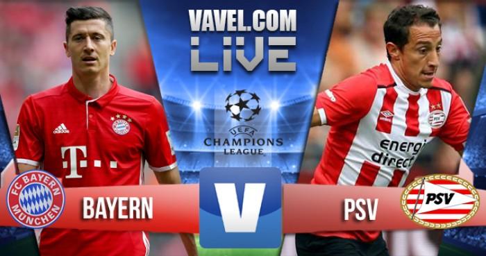 Risultato Bayern Monaco 4-1 PSV in Champions League 2017: Robben la chiude