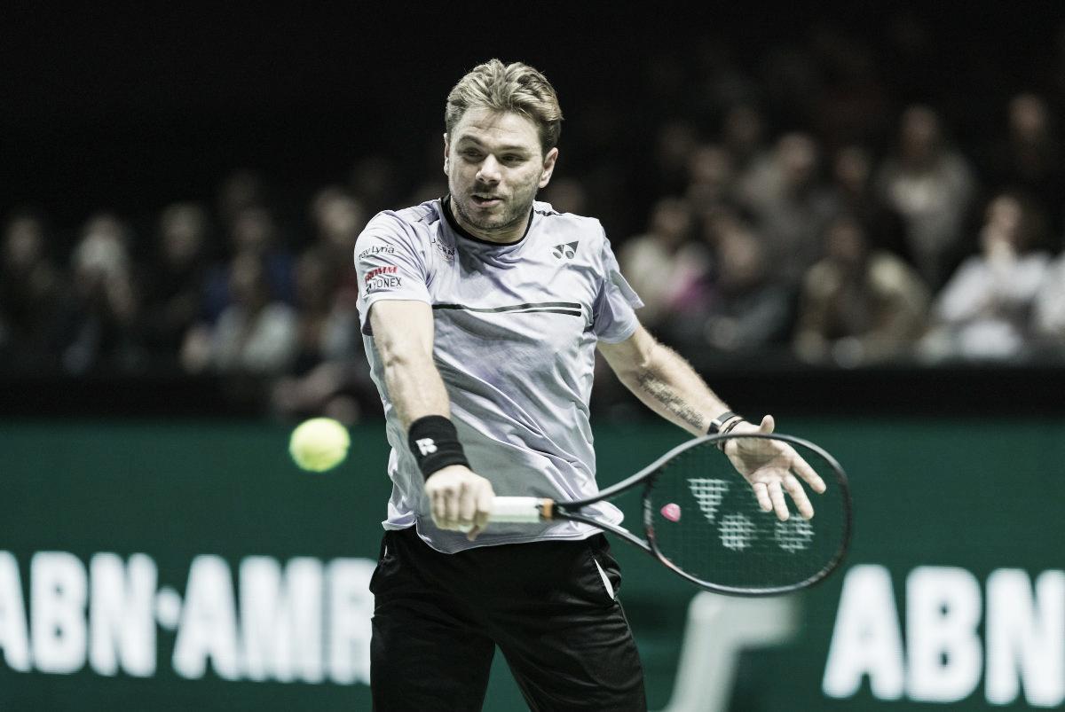 Wawrinka bate Paire e estreia com vitória no ATP 500 de Roterdã
