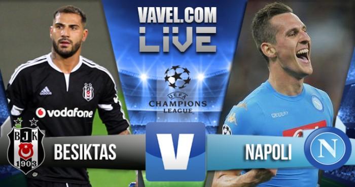 Besiktas - Napoli in Champions League 2016/2017. Il Napoli distrugge e crea, alla fine è pareggio (1-1)