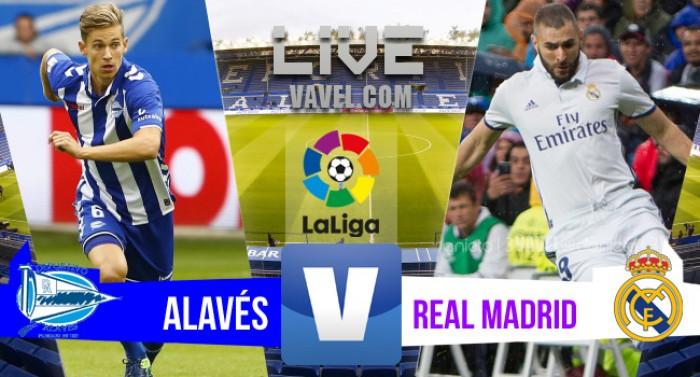 Resultado Alavés x Real Madrid pelo Campeonato Espanhol 2016/17 (1-4)
