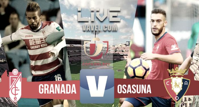 Resumen Granada 1-0 Osasuna en Copa del Rey 2016
