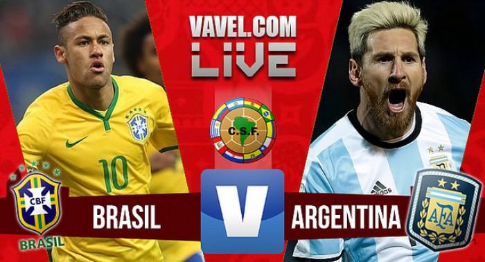 Resultado Brasil x Argentina nas Eliminatórias da Copa do Mundo 2018 (3-0)