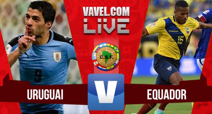 Resultado Uruguai x Equador nas Eliminatórias Sul-Americanas para Copa do Mundo (2-1)