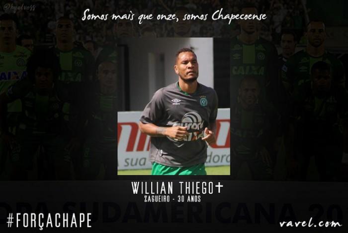 Willian Thiego: zagueiro vivia auge na Chapecoense e estava a caminho do Santos