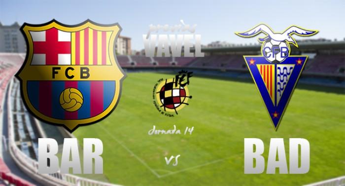 FC Barcelona B - CF Badalona: prueba de fuego
