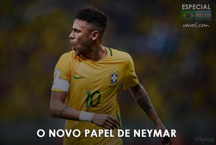 Sem braçadeira, Neymar exerce novo papel de liderança na Seleção