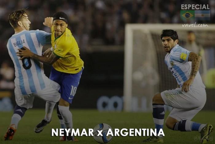 Neymar x Argentina: brasileiro tem aproveitamento mediano em confrontos contra hermanos