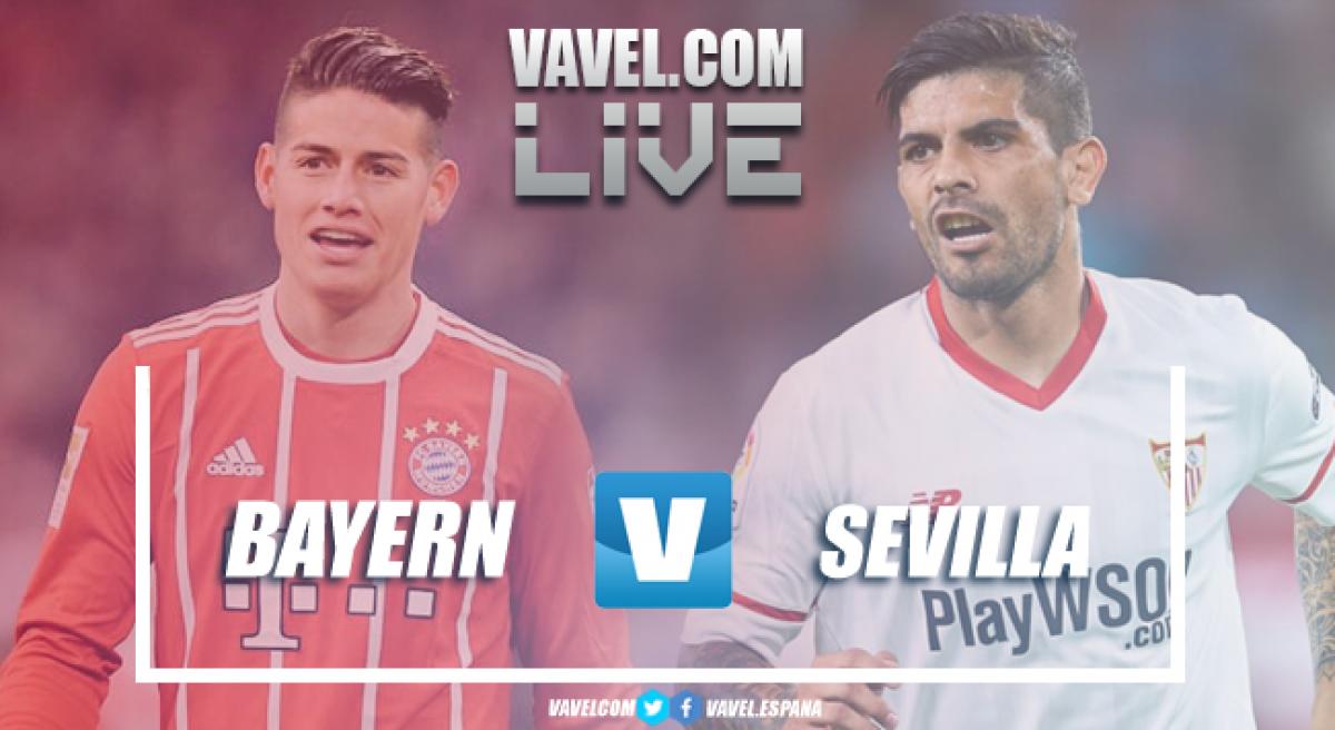Risultato Bayern Monaco - Siviglia in diretta, LIVE Champions League 2017/18 (0-0)