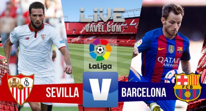 Resultado Sevilla x Barcelona no Campeonato Espanhol 2016 (1-2)