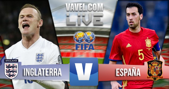 Inghilterra - Spagna (2-2) in amichevole internazionale . Isco la pareggia all'ultimo secondo.