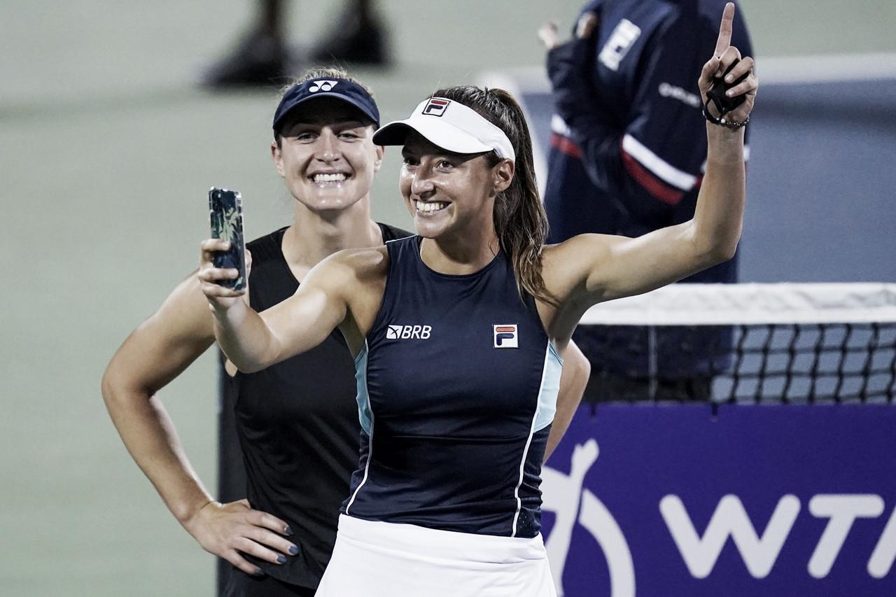Em grande exibição, Dabrowski/Stefani vencem Kudermetova/Rybakina e vão à final das duplas em Montreal