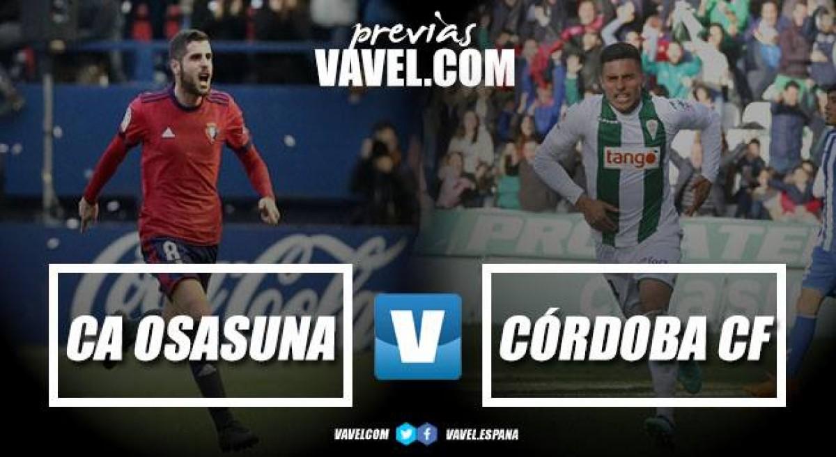 Previa CA Osasuna - Córdoba CF: con un único objetivo, ganar