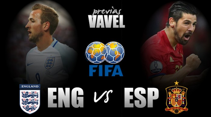 Em partida amistosa, Inglaterra enfrenta Espanha no Wembley