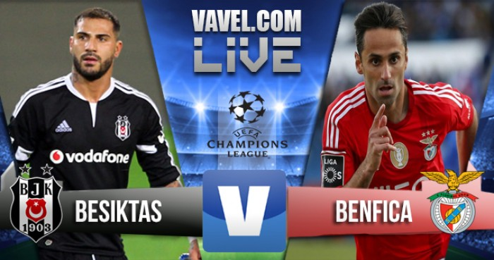 Besiktas - Benfica in Champions League 2016/17 (3-3): Guedes, Semedo, Fejsa, Tosun, Quaresma, Aboubakar