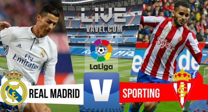Resultado Real Madrid x Sporting no Campeonato Espanhol (2-1)