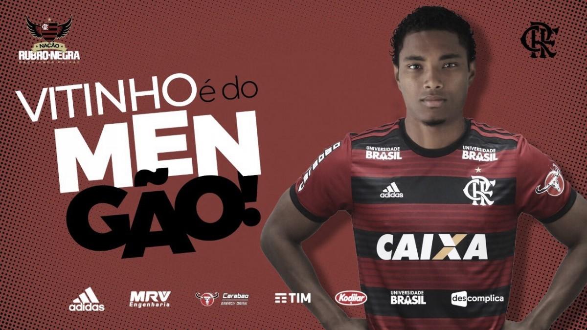 Vitinho é anunciado como novo reforço do Flamengo