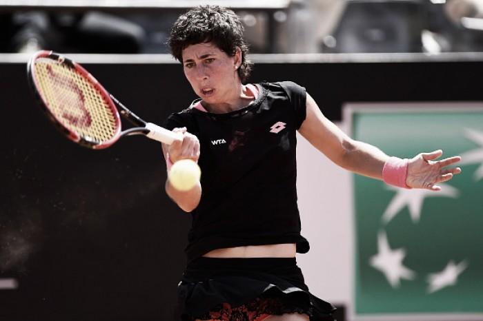 Teliana luta mas é eliminada por Carla Suarez Navarro na segunda rodada de Roma