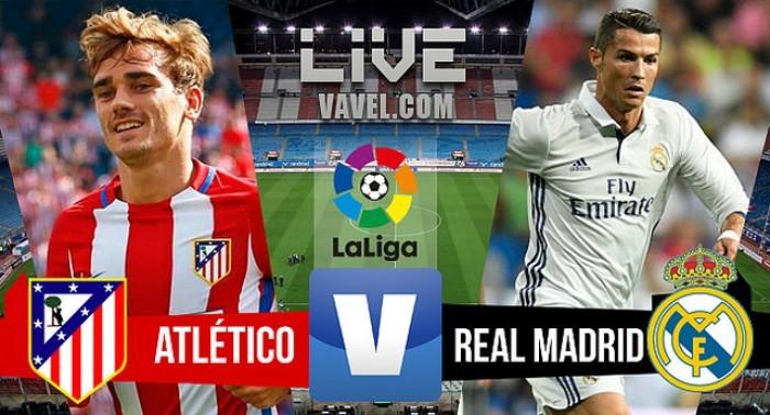 Resultado Atlético de Madrid x Real Madrid pelo Campeonato Espanhol (0-3)