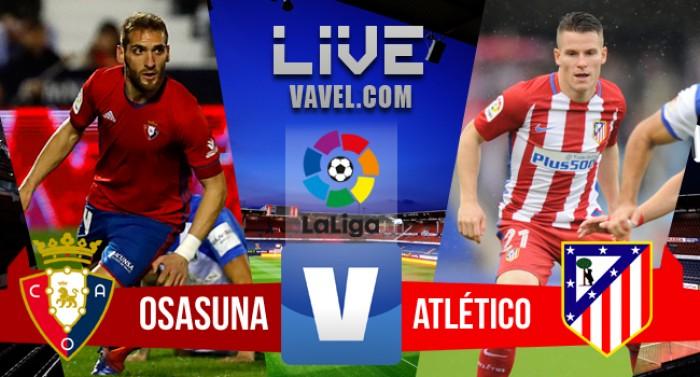 Resumen Osasuna 0-3 Atlético de Madrid en Primera División 2016