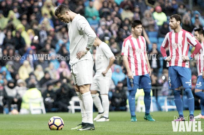 El Madrid casi se ahoga ante un piadoso Sporting